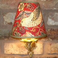 """William MORRIS """"FRAGOLA ladro"""" - 14,5 cm CANDELA Clip lampshade Parete / Base"""