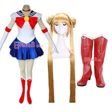 Sailor moon Cosplay Costume Scarpe Stivali Cosplay Parrucca insieme Abito Personalizzato
