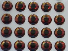 1000 X 3D HOLOGRAPHIC 14MM REAL FISH EYES FOR FLY TYING,LURE,FLIES,PIKE,BASS,(C)
