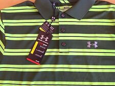 Under Armour Golf men's heatgear loose fit polo shirt, size M, NWT!