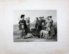 David Wilkie Jagd Hunt Schottland Kilt Dudelsack Bagpipe Flinte Deer Hirsch