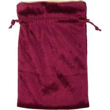 Burgundy Tarot Bag with Gold Lining!