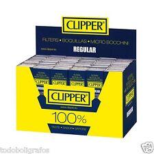 Boquillas filtros Regular mini Clipper caja completa para cigarrillos de 8mms.