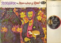 P 8533 PENNARIO piano colours of ravel uk capitol rainbow rim 1960 LP PS EX/VG+