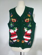 Carly St. Claire Sweater Vest Ugly Christmas Sweater Women's  Size Large