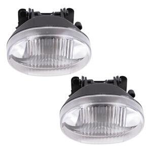Pair Set Fog Lights Lamps w/ Housing Assembly SAE for 00-05 Chevrolet Cavalier