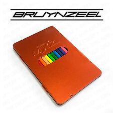 BRUYNZEEL MXZ - 12 TRIANGOLARE MATITE COLORATE - in una Bruciato Arancione in metallo latta