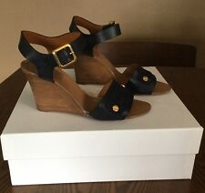 Chloe Navy Wedges Size 38