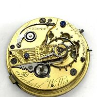 Richard Willis Liverpool Fuzee Pocket Watch Movment Pnly. # 1995. 47mm. Parts.