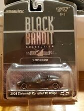 Greenlight Black Bandit Collection 2008 Chevrolet Corvette C6 Coupe 1/2500 Made