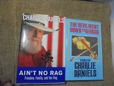 Lot of 2 Charlie Daniels Books 1985 Devil Went Down To Georgia Signed Autograph