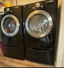 Lg Tromm Front Load Washer And Dryer Set With Pedestals Included! Working!