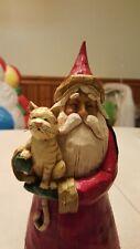 2002 Jim Shore 105167 Santa Tabby Cat figurine Christmas Heartwood Creek