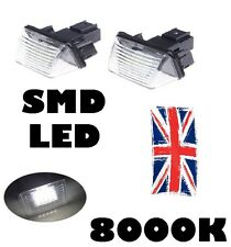 2 x ERROR FREE LED LICENSE NUMBER PLATE LIGHT PEUGEOT 206 207 306 307 406 407