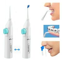2X Portable Water Flosser Manual Oral Irrigator With Nasal Wash Tip
