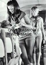 1971 SOUTHWEST AIRLINES FLIGHT ATTENDANT HOT PANTS PHOTO MOD FASHION AVIATION