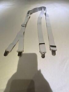 Spot Y Fit Classic Clip auf Hosenträger Hosenträger Top Zustand Weiß
