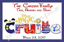 4x6 Disney Cruise Stateroom Door Magnet - CRUISE - DREAM/FANTASY/MAGIC/WONDER