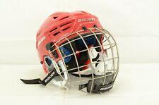 Bauer Reakt 150 Ice Hockey Helmet Combo Red Size Medium (0318-2382)