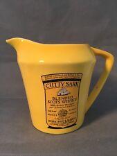Cutty Sark Scotch Bar Pitcher Scotland Ship Golden Ceramic Wade Whiskey Flagon