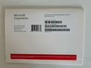 Microsoft Windows Server 2019 Standard 16 Core, New, Sealed, DVD, COA