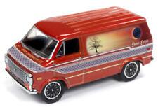 1/64 RACING CHAMPIONS MINT 1975 Chevrolet Van in Tangerine with Sunset Graphics