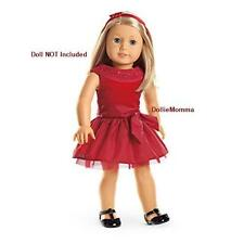 New American Girl Joyful Jewels Outfit Red Holiday Party Dress Headband ShipFREE