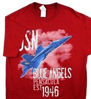 United States Navy Blue Angels Pensacola Florida Est 1946 T-Shirt Medium
