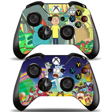 Anime Rick and Morty 2 Pack Xbox One Controllers Remote Vinyl Skin Decal Sticker