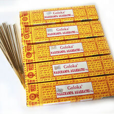 INCIENSO 5x Goloka Nagchampa India Nag Champa Goa AMARILLO