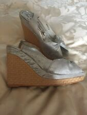 Ladies Silver Wedges Size 6 by Red Herring. Hardly worn!