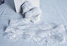 Vintage Francés de encaje blanco de encaje de bolillos 8.6 YD (approx. 7.86 m) Ballet Muñecas Osos, Vintage Boda