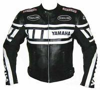 YAMAHA BLACK COWHIDE LEATHER MOTORBIKE/MOTORCYCLE RIDING ARMOURED JACKET