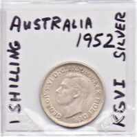 Australia 1 Shilling Silver Coin 1952 King George VI As Pictured