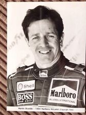 Martin Brudle Marlboro McLaren Publicidad Foto 1994. F1 Hugo Boss. Shell.