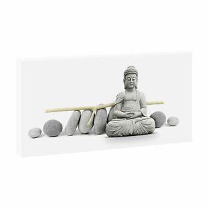Bouddha- Bild sur Toile Tableau Mural Pression Feng Shui Affiche XXL 80 CM 40 CM