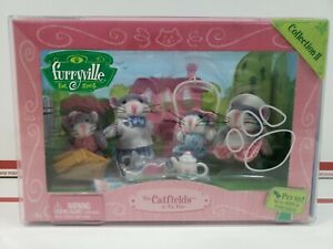 Mattel Furryville The Catfields at Tea Time Set Collection II 2005 Retired NIB