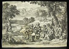 Gabriel PERELLE 1604-1677 scène paysanne travail des champs chez Langlois c1650