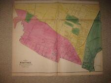 ANTIQUE 1869 HARTFORD CONNECTICUT MAP DEAF MUTE ASYLUM HOSPITAL HORSE TRACK RARE