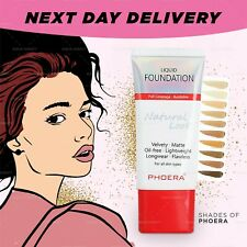PHOERA NATURALLY FLAWLESS FULL COVERAGE OIL FREE SOFT MATTE LIQUID FOUNDATION