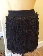 Cousin Earl Black Fringe Skirt * Size M