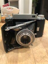 Vintage Kodak Tourist II Bellows Camera Black Folding Film with Leather Case