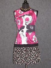 CUSTO BARCELONA Colorful Abstract Pattern Sleeveless Shift Dress SZ 44