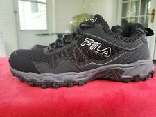 NEW MEN FILA MEMORY FOAM COOLMAX BLACK 9 ATHLETIC WALKING TENNIS SHOE  *SAMPLE*