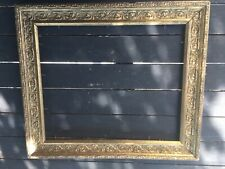 Rare Ancien cadre bois doré Barbizon XIXème Feuillure Napoléon III 1870