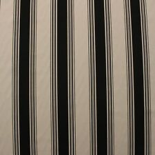 "FRENCH STRIPE BLACK CREAM PRINTED DRAPERY MULTIPURPOSE FABRIC BY YARD 57""W"