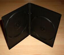 50 DVD Hüllen Case Slim 2fach Doppel dünn 9mm 190 x 135 x 9 schwarz schmal Neu