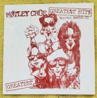 MOTLEY CRUE - GREATEST HITS - SPECIAL BONUS CD - 1998 - EXTREMELY RARE