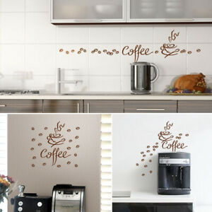 Wandtattoo Küche Wandaufkleber Coffee Cafe Tasse Aufkleber Deko Sticker 1045W