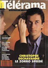 telerama n°2040 christophe dechavanne 1989
